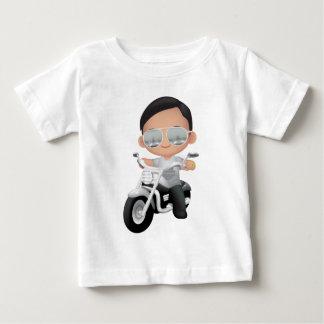 T-shirt Pour Bébé RockStar mignon sur la moto