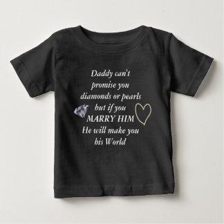 T-shirt Pour Bébé Romantique épousez-moi poème