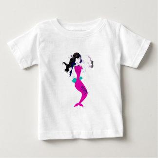 T-shirt Pour Bébé Rose merveilleux/T-shirts de sirène