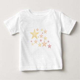 T-shirt Pour Bébé Rose/rouge/étoiles d'orange