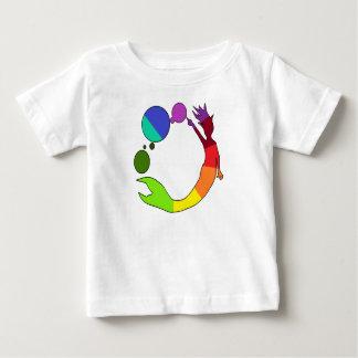 T-shirt Pour Bébé Roue de couleur de sirène