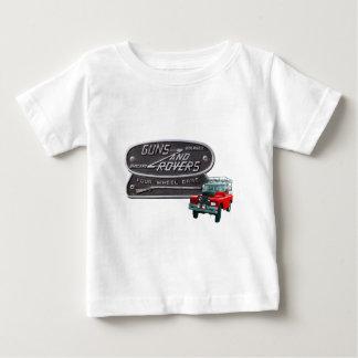 T-shirt Pour Bébé Rouge Rover d'armes à feu et de vagabonds