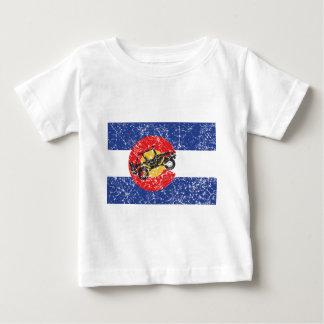 T-shirt Pour Bébé Rouleur du drapeau 4 du Colorado