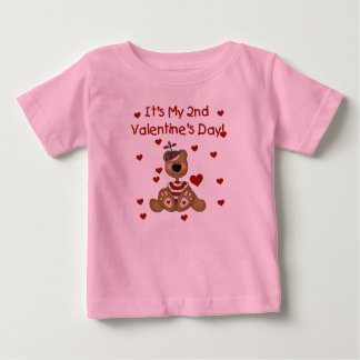 T-shirt Pour Bébé Saint-Valentin d'ours de garçon 2ème