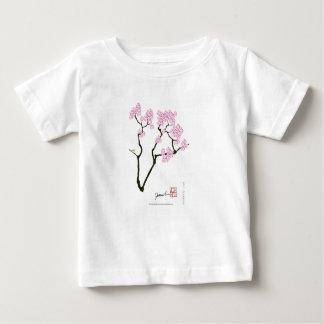 T-shirt Pour Bébé Sakura avec l'oiseau vert, fernandes élégants