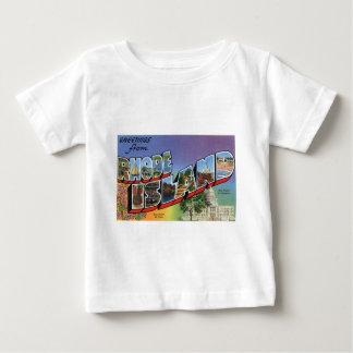 T-shirt Pour Bébé Salutations d'Île de Rhode