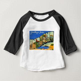 T-shirt Pour Bébé Salutations d'Indiana