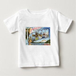 T-shirt Pour Bébé Salutations d'Orégon