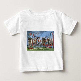 T-shirt Pour Bébé Salutations du Wisconsin