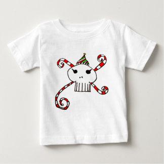 T-shirt Pour Bébé santaskull