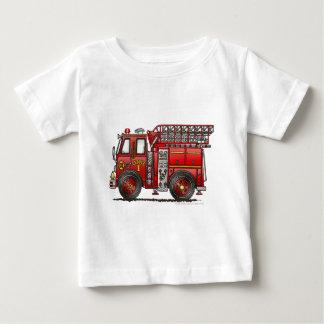 T-shirt Pour Bébé Sapeur-pompier de camion de pompiers d'échelle