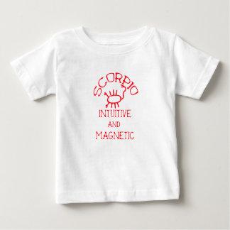 T-shirt Pour Bébé Scorpion (texte rouge)