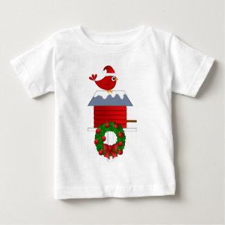 T-shirt Pour Bébé Séance cardinale rouge de Noël sur la volière