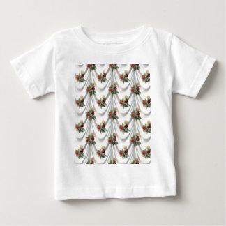 T-shirt Pour Bébé s'est levé floral, art, conception, beau,