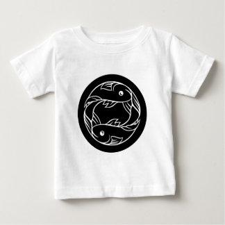 T-shirt Pour Bébé Signe d'astrologie de zodiaque de poissons de