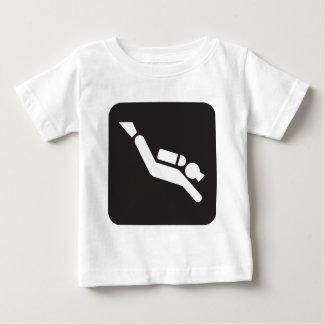 T-shirt Pour Bébé Signe de plongée à l'air