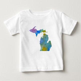 T-shirt Pour Bébé silhouette colorée du Michigan