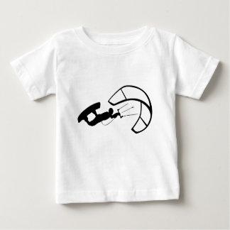 T-shirt Pour Bébé Silhouette de surfer de vent