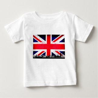 T-shirt Pour Bébé Silhouette d'horizon de Londres