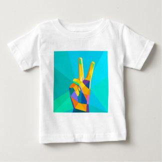 T-shirt Pour Bébé Silhouette moderne o de style géométrique de main