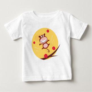 T-shirt Pour Bébé Singe sautant