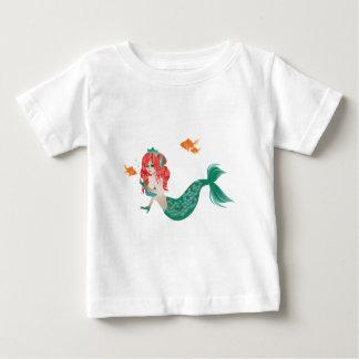 T-shirt Pour Bébé Sirène d'une chevelure rouge 2