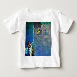 T-shirt Pour Bébé Sirène et poissons au château sous-marin