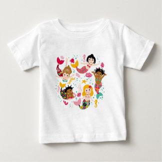 T-shirt Pour Bébé sirènes