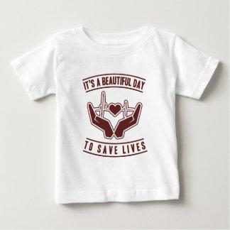 T-shirt Pour Bébé Son un beau jour pour sauver les vies