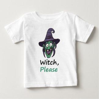 T-shirt Pour Bébé sorcière svp