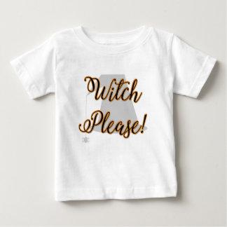 T-shirt Pour Bébé sorcière svp Halloween drôle avec le casquette