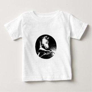 T-shirt Pour Bébé Soudeur Scratchboard de chien de dingo