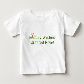 T-shirt Pour Bébé Souhaits de vacances accordés ici !