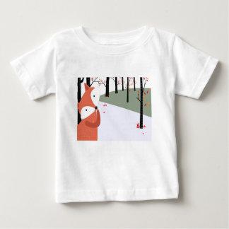 T-shirt Pour Bébé Sourire mignon vintage de loup de renard de bébé