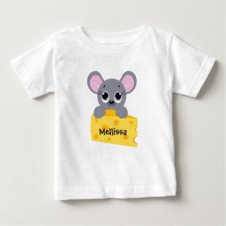 T-shirt Pour Bébé Souris mignonne personnalisée avec la chemise de