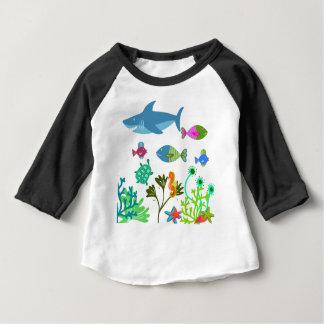 T-shirt Pour Bébé Sous la mer