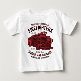 T-shirt Pour Bébé Soutenez vos sapeurs-pompiers locaux