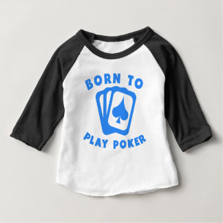 T-shirt Pour Bébé Soutenu pour jouer au poker