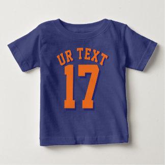 T-shirt Pour Bébé Sports Jersey du bébé   de bleu royal et d'orange