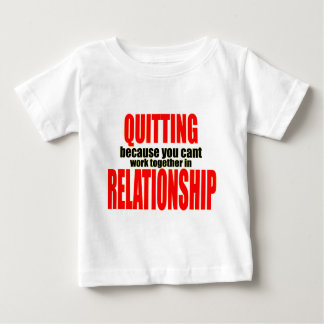 T-shirt Pour Bébé stoppant le travail ensemble stoppé de rapport de