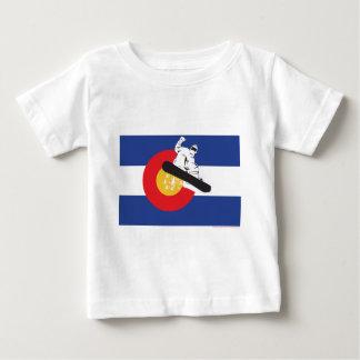 T-shirt Pour Bébé Surf des neiges le Colorado