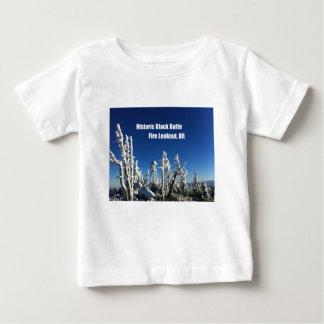 T-shirt Pour Bébé Surveillance noire historique du feu de butte, OU