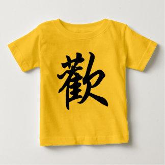 T-shirt Pour Bébé Symbole chinois pour la joie (balayée)