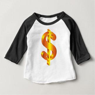 T-shirt Pour Bébé Symbole dollar d'or