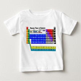 T-shirt Pour Bébé Tableau des éléments périodique