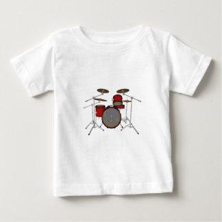 T-shirt Pour Bébé Tambours : Kit de tambour rouge : modèle 3D :
