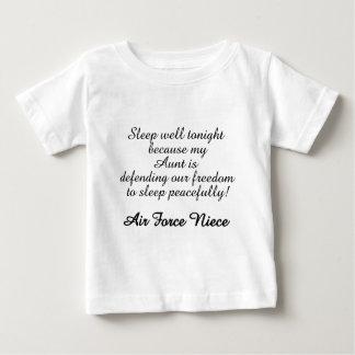 T-shirt Pour Bébé Tante de puits de sommeil de nièce de l'Armée de