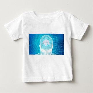 T-shirt Pour Bébé Technologie futuriste avec la puce Soluti d'esprit