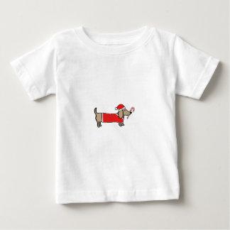 T-shirt Pour Bébé Teckel de Noël