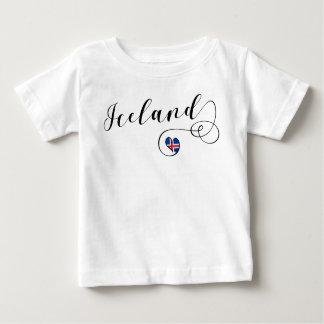 T-shirt Pour Bébé Tee - shirt de coeur de l'Islande, islandais